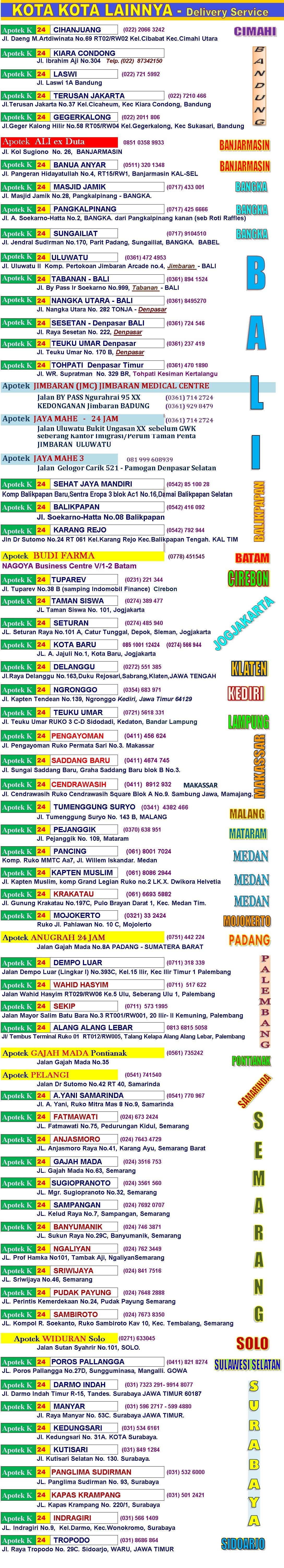 OBAT KUAT. Hati-hati obat PALSU! Dapatkan obat asli di apotek apotek kami yang resmi di beberapa kota di Indonesia.